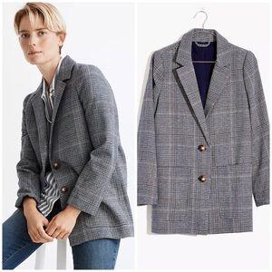 New Madewell plaid blue blazer